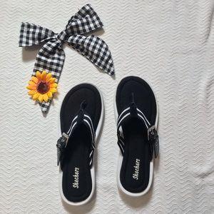Skechers Women's Flip Flop || ⚫️⚪️